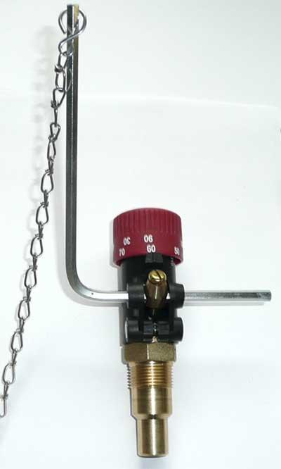 """Feuerungszugregler FR 3/4"""" für Festbrennstoffkessel"""