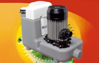 Hochleistungs-Hebeanlage Sanicom, für fäkalienfreies Abwasser und zum Einsatz unterhalb der Rückstauebene im gewerblichen und häuslichen Bereich