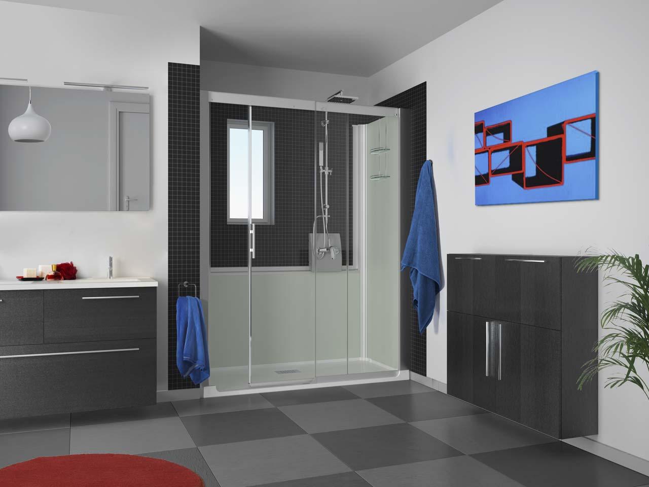 nischen dusche ohne t r verschiedene design inspiration und interessante ideen. Black Bedroom Furniture Sets. Home Design Ideas