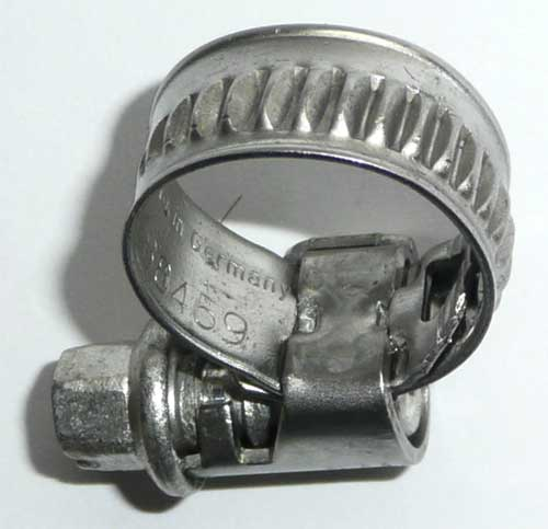 Schlauchschelle aus Edelstahl 8 - 16 mm