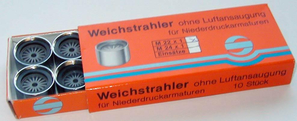 Weichstrahlregler für Niederdruckarmaturen 22 x 1 IG