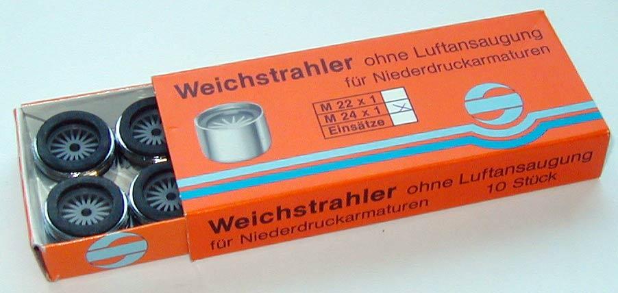 Weichstrahlregler für Niederdruckarmaturen 24 x 1 AG