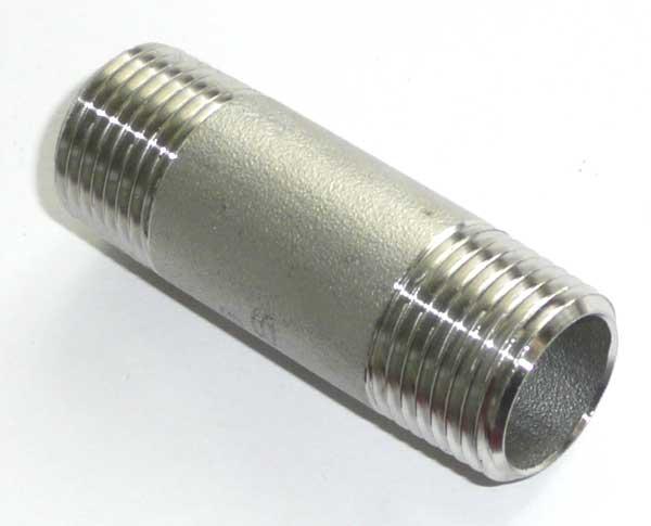 "Edelstahl Rohrnippel 4"" 120 mm"