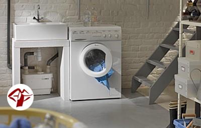 Kleinhebeanlage Sanivite, für fäkalienfreies Abwasser, Anschluß möglich von Spültisch, Wasch/Spülmaschine, Dusche, Urinal, Bidet, Kondensat